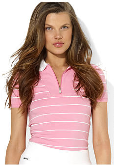Lauren Ralph Lauren Petite Striped Cotton Polo