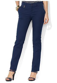 Lauren Ralph Lauren Petite Straight Cotton Pant