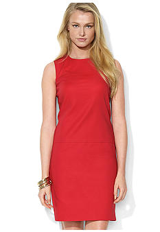 Lauren Ralph Lauren Petite Sleeveless Crewneck Dress