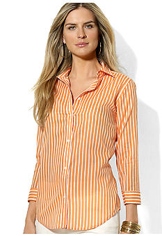 Lauren Ralph Lauren Petite Striped Cotton Blouse