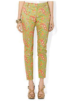 Lauren Ralph Lauren Petite Paisley Cotton Ankle Pants