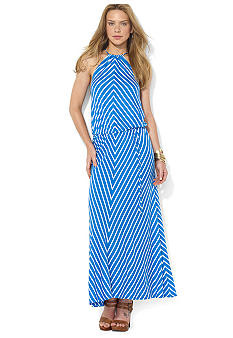 Lauren Ralph Lauren Petite Chevron Halter Maxi Dress