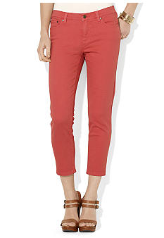 Lauren Ralph Lauren Petite Slim-Fit Straight Cropped Jean
