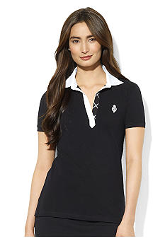 Lauren Ralph Lauren Petite Open-Placket Cotton Polo