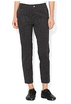 Lauren Ralph Lauren Petite Polka-Dot Cotton Crop Pant