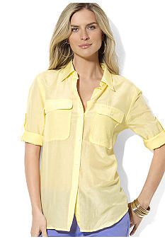 Lauren Ralph Lauren Petite Cotton Workshirt
