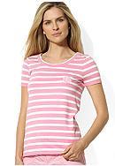 Lauren Ralph Lauren Petite Striped Scoop Neck Tee