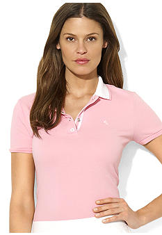 Lauren Ralph Lauren Petite Short-Sleeved Cotton Polo
