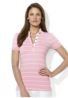 Lauren Ralph Lauren Petite Striped Stretch-Cotton Polo