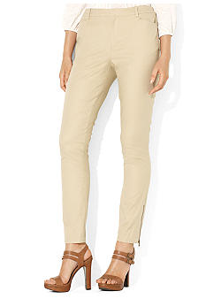 Lauren Ralph Lauren Petite Zippered Slim Ankle Pant
