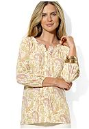 Lauren Ralph Lauren Cotton Paisley Peasant Blouse