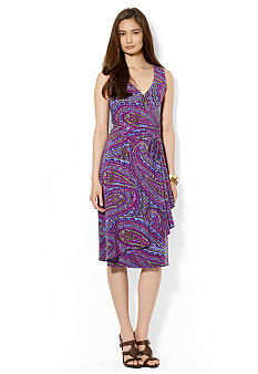 Lauren Ralph Lauren Petite Paisley Faux-Wrap Dress