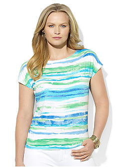 Lauren Ralph Lauren Petite Striped Dolman Top