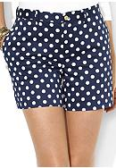 Lauren Ralph Lauren Petite Polka-Dot Cotton Short