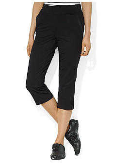 Lauren Ralph Lauren Petite Stretch Cotton Crop Pant