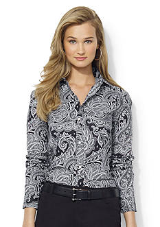 Lauren Ralph Lauren Petite Wrinkle-Free Paisley Dress Shirt