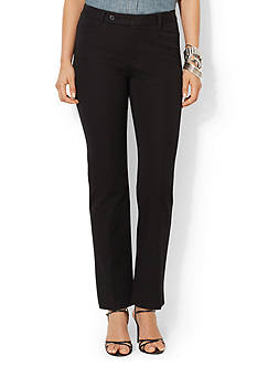 Lauren Ralph Lauren Petite Stretch-Twill Slimming Straight Pant