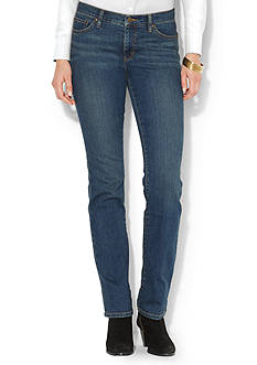 Lauren Ralph Lauren Petite Super Stretch Slimming Classic Straight Jean