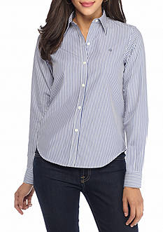 Lauren Ralph Lauren Petite Aaron Long Sleeve Shirt