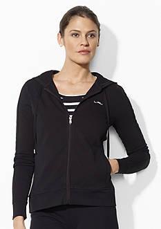 Lauren Ralph Lauren Petite Full-Zip Jersey Hoodie