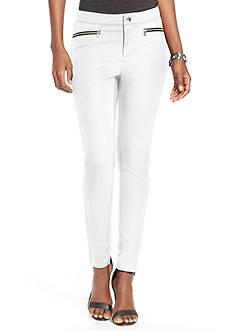 Lauren Ralph Lauren Petite Zip Pocket Skinny Pants
