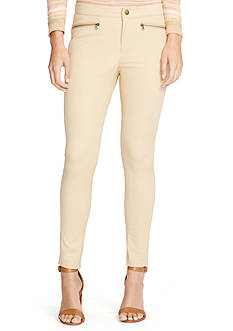 Lauren Ralph Lauren Petite Zip-Pocket Skinny Pants