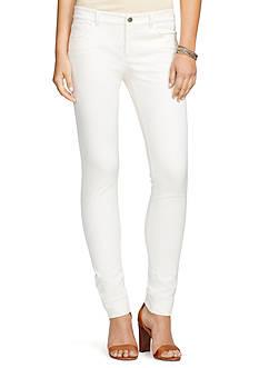 Lauren Ralph Lauren Petite Stretch Cotton Straight Pants