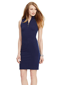 Lauren Ralph Lauren Petite Pique Sleeveless Dress