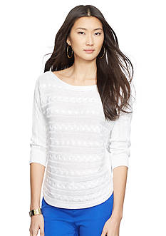 Lauren Ralph Lauren Petite Cable-Knit Dolman Sweater