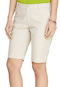 Lauren Ralph Lauren Petite Stretch Cotton Short