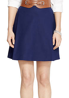 Lauren Ralph Lauren Petite Pleated Cotton Miniskirt