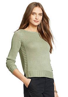 Lauren Ralph Lauren Petite Bateau-Neck Sweater