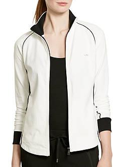 Lauren Ralph Lauren Petite Stretch-Cotton Mockneck Jacket
