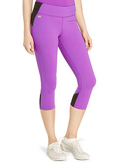 Lauren Ralph Lauren Petite Color-Blocked Cropped Legging