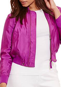 Lauren Ralph Lauren Petite Size Shantung Trubin Jacket
