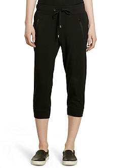 Lauren Ralph Lauren Petite Cropped Stretch-Cotton Jogger