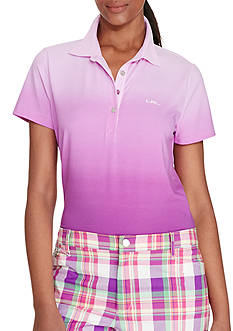 Lauren Ralph Lauren Petite Stretch-Cotton Polo Shirt