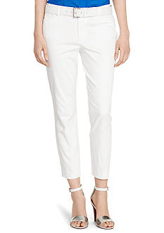 Lauren Ralph Lauren Petite Cotton Sateen Skinny Pants