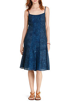 Lauren Ralph Lauren Petite Gauze Fit-and-Flare Dress