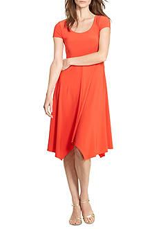 Lauren Ralph Lauren Petite Jersey Handkerchief-Hem Dress
