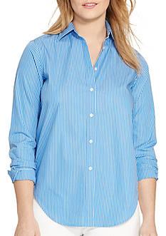 Lauren Ralph Lauren Petite Size Broadcloth Keerta Top