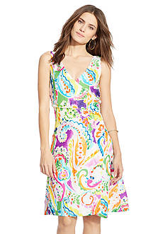 Lauren Ralph Lauren Petite Paisley-Print Crepe Dress