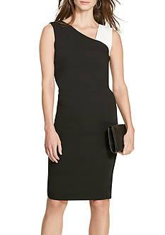 Lauren Ralph Lauren Petite Size Floria Color Blocked Dress