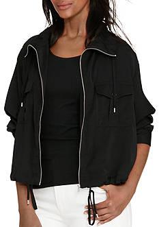 Lauren Ralph Lauren Petite Size Sayson Silk Jacket