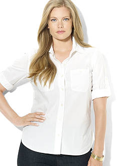 Lauren Ralph Lauren Plus Size Carter Roll-Sleeve Shirt
