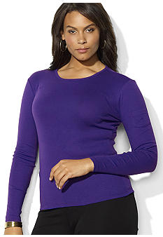 Lauren Ralph Lauren Plus Size Long Sleeve Crew