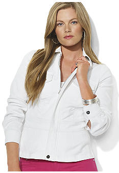 Lauren Ralph Lauren Plus Size Full-Zip Denim Jacket