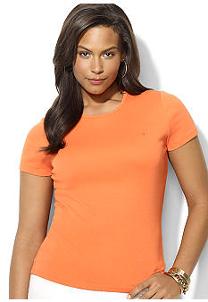 Lauren Ralph Lauren Plus Size Short Sleeve Cotton Crewneck Tee