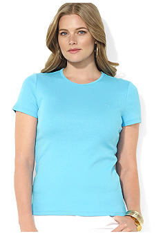 Lauren Ralph Lauren Plus Size Cotton Crewneck Tee