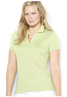 Lauren Ralph Lauren Plus Size Short-Sleeved Cotton Polo